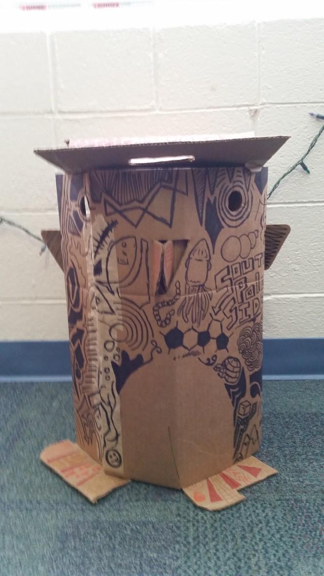 Cardboard Penguin 4