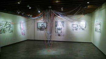Wide view of Inner-Twined installation